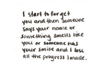start forget you but I fail when someone remind me about you
