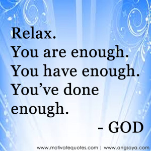 Relax.fw God message Quotes