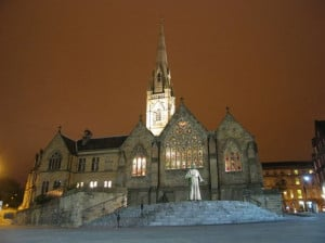 St Mary's Roman Catholic Cathedral and Cardinal Basil Hume . . .