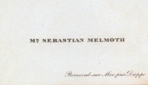 Description Oscar Wilde's visiting card (as Sebastian Melmoth).jpg
