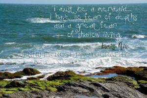 Anais Nin Mermaid Quote Art on Original by JenniferRoseGallery, $20.00