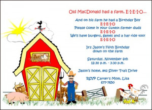 Farm Animals Kids Birthday Party Invitation areBecoming Very Popular!