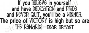 Dedication Quotes Sports