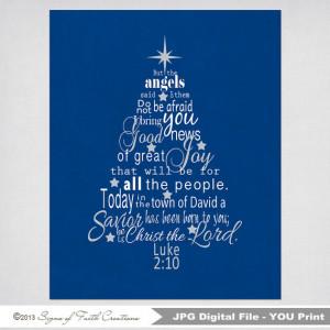 Luke 2 Bible Verse Christmas Tree Subway by SignsofFaithCreation