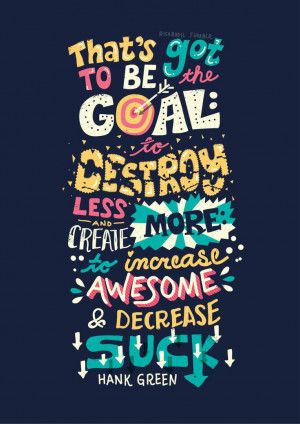 Hank Green Quotes - Lettering Series