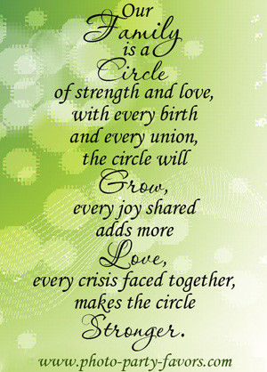 Family Reunion Quote - Our family is a circle of strength and love ...