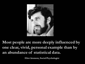 Most people are more deeply influenced by one clear, vivid, personal ...