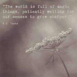 Inspirational Print | Inspirational Quote W.B. Yeats | The World is ...
