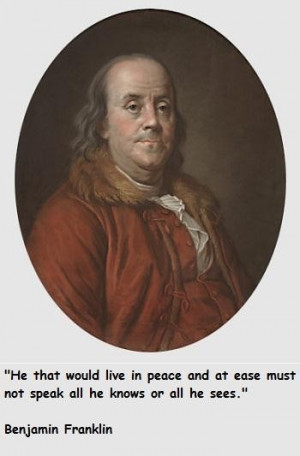 Benjamin franklin famous quotes 1