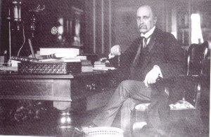 Sir William Osler at the desk that now resides in the John Martin Rare ...