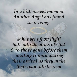 Angels In Heaven Quotes Moment another angel has