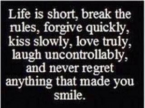No regrets.