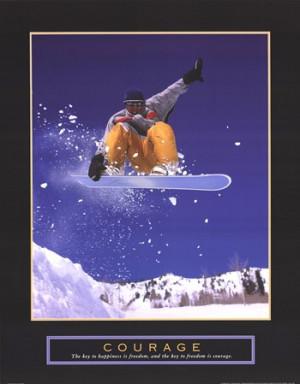 Courage - Snowboarder Fine-Art Print