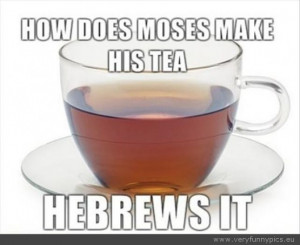 Funny Picture - How does moses make his tea