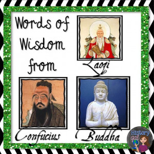 and Buddhism by reading quotes from their founders: Confucius, Laozi ...