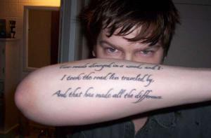 love poems tattoos
