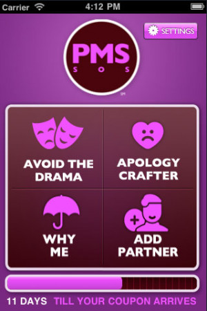 Betty Crocker Warm Delights has launched a new app called PMS SOS ...