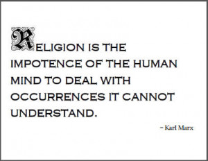 Karl Marx Quote on Religion