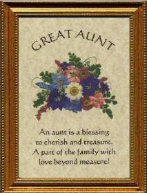Great Aunt Gift Poem Personalized Name Plaque