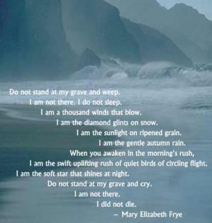 Poems read by Sheila Krystal at Richard's Memorial