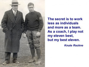 Knute Rockne Head Coach - Notre Dame 4 National Championships ...