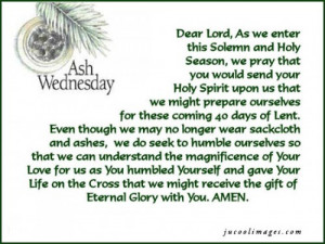 Ash Wednesday quote