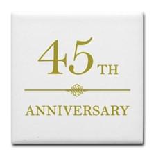 45th Anniversary Tile Coaster