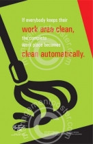 Automatic cleanliness posters