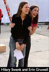 Hilary Swank and Erin Gruwell Freeom Writers set