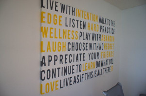 ... 241 Dont quote me on that : Making a quotes mural for our office