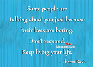 quotes about people talking bad about you Quotes About People Talking ...