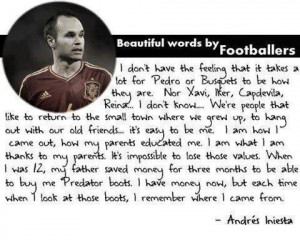 Quote remember your roots by Iniesta