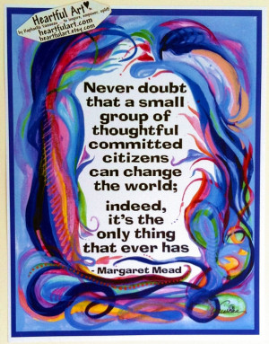 NEVER Doubt MARGARET MEAD Inspirational Quote Motivational Print ...