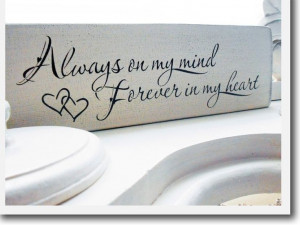 on my mind, forever in my heart ♥ I love this font & the quote ...