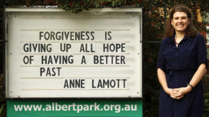 ... inspirational quotes at the Albert Park Baptist Church. Picture: SARAH