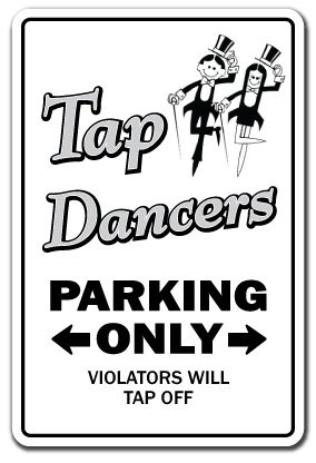 TAP DANCERS ~Sign~ dance tapping music elegant gift