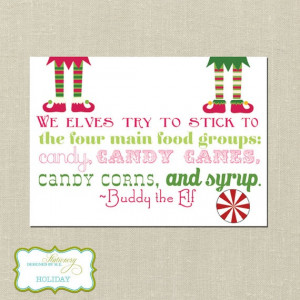 Printable Holiday Card Elf Movie Quote Print at by designedbyme, $15 ...