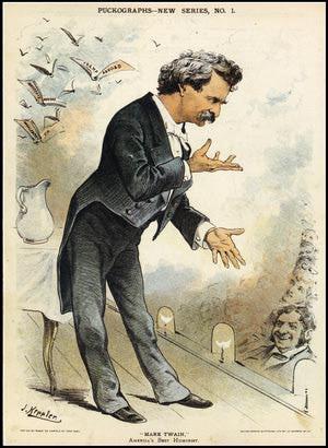 Cartoon Portrait Of Mark Twain - Transcendental Graphics / Contributor ...