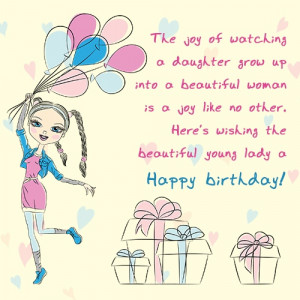 ... no other. Here's wishing the beautiful young lady a happy birthday