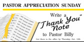 ... Appreciation Bible Line Pastor Appreciation Bible Line banner sign