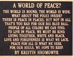Peace Poem More