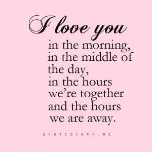 always, away, fade, i love you, love, love, never, pink, quote, quotes ...