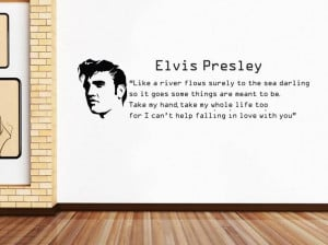 ELVIS-PRESLEY-FALLING-IN-LOVE-Quote-Decal-WALL-STICKER-Lyrics-Decor ...
