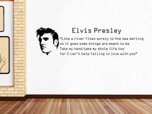 ELVIS-PRESLEY-FALLING-IN-LOVE-Quote-Decal-WALL-STICKER-Lyrics-Decor ...