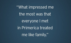 Welcome to the family, Primerica style.