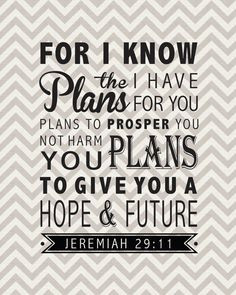scripture #verse #verseoftheday For I know the plans I have for you ...