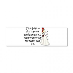 Annoy Gifts > Green eyed, redhead bride 21x7 Wall Peel