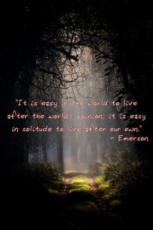 Self-Reliance p. 263} Emerson ends this quote by saying