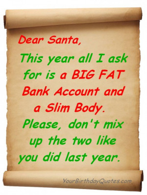 Holiday, Christmas, quotes, funny, list, santa