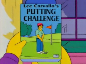 Lee Carvallo's Putting Challenge